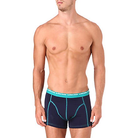 BJORN BORG Pack of three stretch-cotton trunks (Peacoat