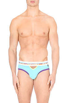 ANDREW CHRISTIAN Bold coloured cut-out briefs