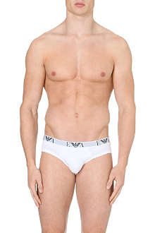 ARMANI Pack of three logo briefs