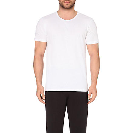 ARMANI Pack of three plain cotton t-shirts (White
