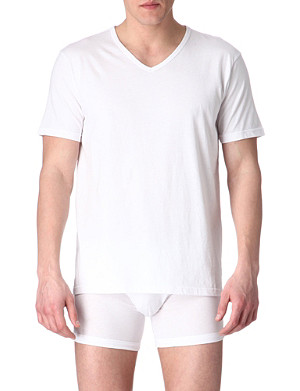 EMPORIO ARMANI Pack of three plain cotton t-shirts