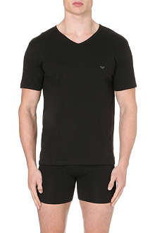 ARMANI Pack of three plain cotton t-shirts