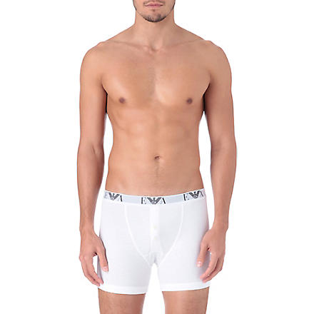 ARMANI Pack of three button-fly trunks (White