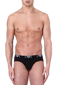 ARMANI Pack of three logo hipster briefs