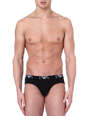 EMPORIO ARMANI Pack of three logo hipster briefs