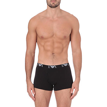EMPORIO ARMANI Pack of three logo trunks (Black