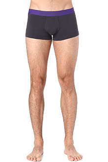 ARMANI Two pack of plain contrast trunks