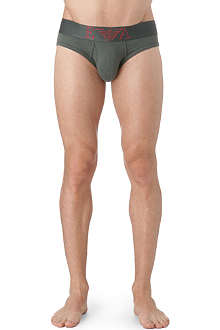 ARMANI Logo-detailed stretch-cotton briefs