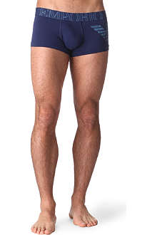 ARMANI Faded Eagle stretch-cotton trunks