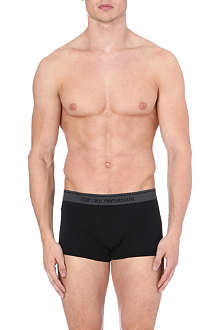 EMPORIO ARMANI Embroidered-logo stretch-cotton trunks