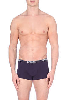 EMPORIO ARMANI Logo-waistband stretch-cotton trunks