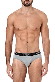 ARMANI Pack of two stretch-cotton Eagle briefs