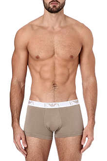 ARMANI Pack of three stretch-cotton Eagle trunks