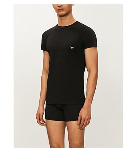 EMPORIO ARMANI Crewneck jersey t-shirt (Black