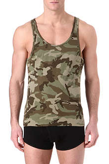 THE WHITE BRIEFS Camouflage tank top