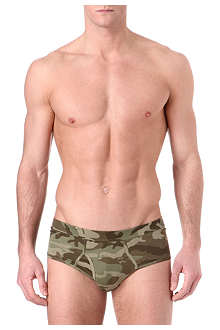 THE WHITE BRIEFS Camouflage briefs