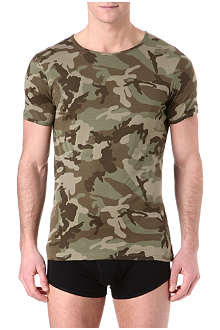 THE WHITE BRIEFS Camouflage crew-neck t-shirt