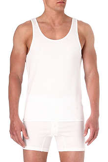 THE WHITE BRIEFS Rye singlet vest