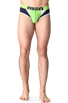 MEN Mesh-detail briefs