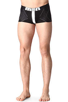 MEN Inverted mesh-arrow detail trunks