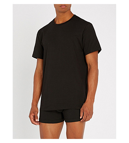 CALVIN KLEIN Set of two cotton-jersey crewneck T-shirts (Black