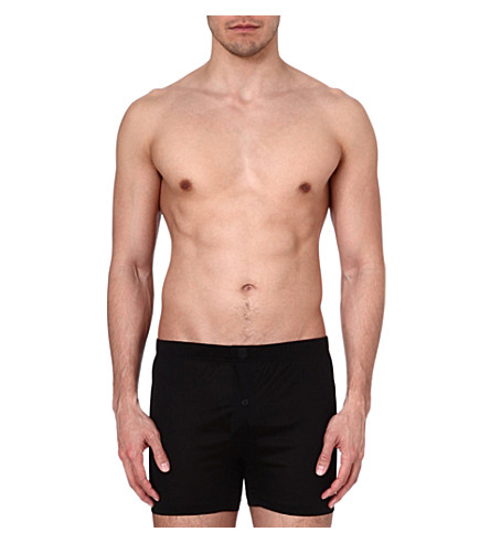 ZEGNA Cotton boxer shorts (Black
