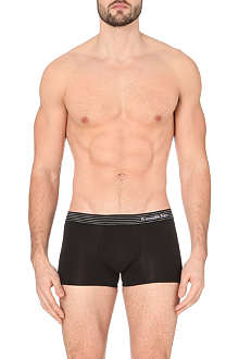 ZEGNA Striped waistband stretch-cotton trunks