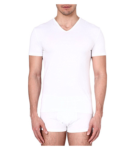 ZEGNA V-neck jersey t-shirt (White