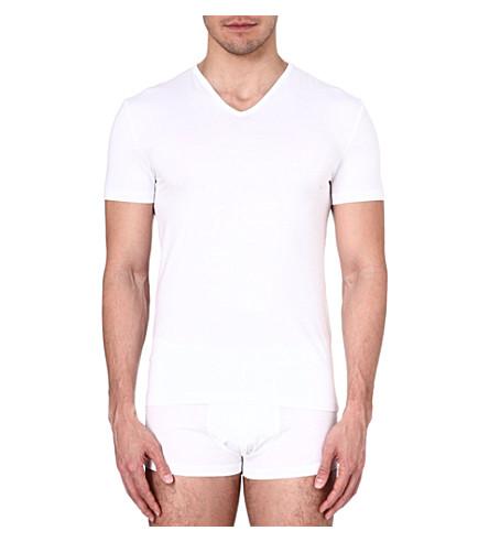 ZEGNA V-neck jersey t-shirt (White