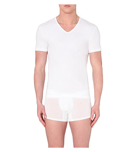 ZEGNA V-neck short-sleeved t-shirt (White