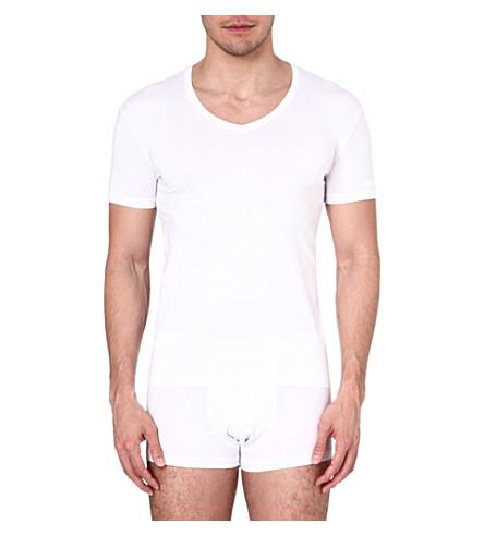 ZEGNA Mid v-neck jersey t-shirt (White