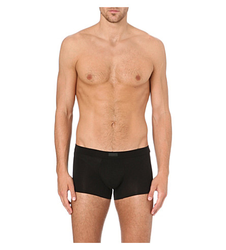 ZEGNA Stretch-cotton trunks (Black