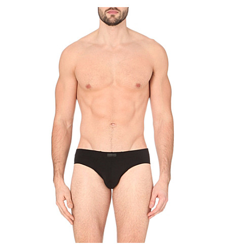 ZEGNA Branded jersey briefs (Black