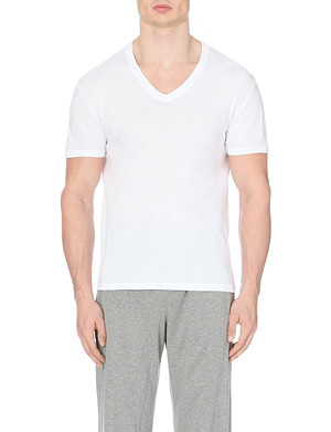 ZEGNA V-neck cotton-jersey t-shirts pack of two