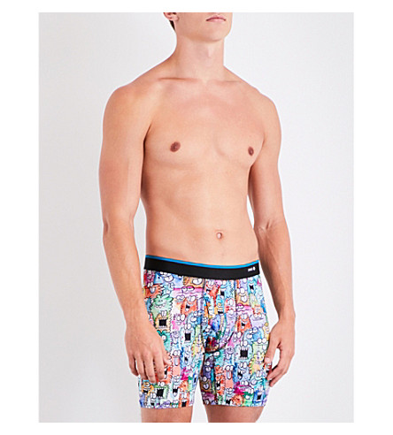 STANCE Monster Party modern-fit jersey boxer briefs (Multi