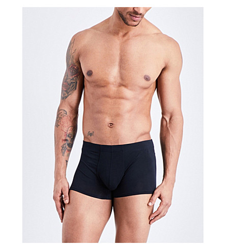 LA PERLA Slim-fit stretch-cotton trunks (Black