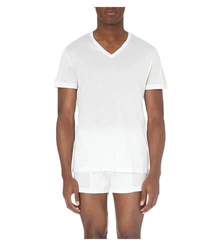 LA PERLA Cotton-jersey t-shirt (White