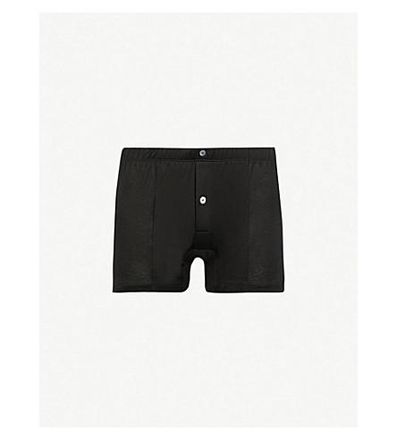 c5e9b0af99645 LA PERLA Button-down regular-fit stretch-cotton trunks (Black