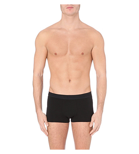 LA PERLA Branded cotton trunks (Black