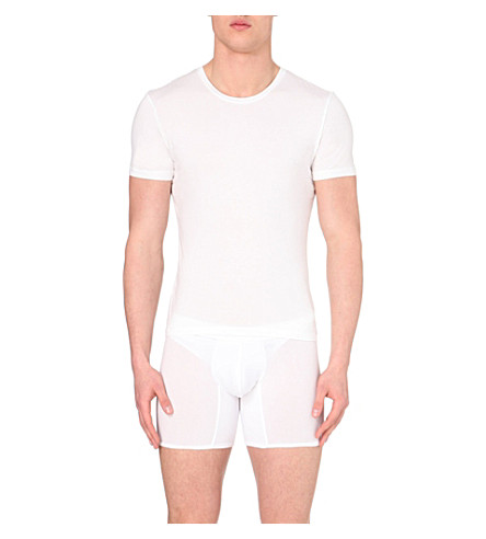 LA PERLA Short-sleeved cotton t-shirt (White