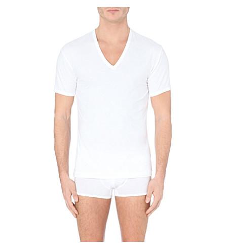 LA PERLA V-neck cotton t-shirt (White