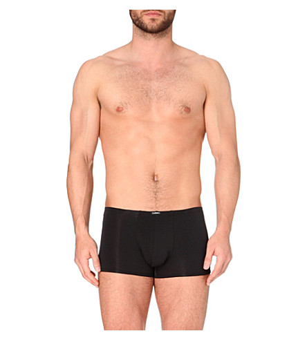 LA PERLA Seamless slim-fit stretch-cotton trunks (Black