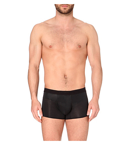 LA PERLA Branded trunks (Black
