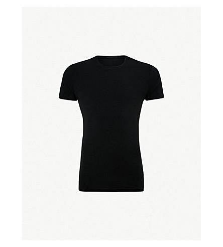 LA PERLA Seamless crewneck stretch-cotton T-shirt (Black