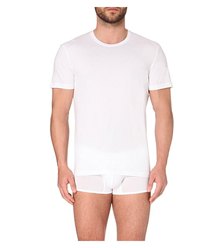 LA PERLA Seamless crew-neck t-shirt (White