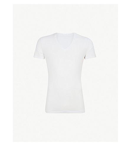 LA PERLA Seamless V-neck T-shirt (White