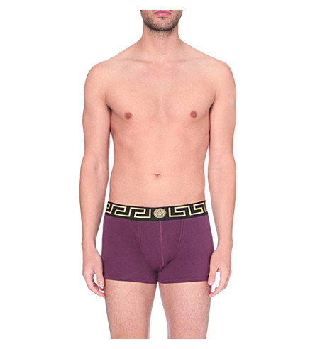VERSACE Iconic stretch-cotton trunks (Beetroot
