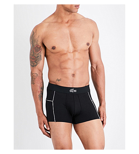 LACOSTE Motion slim-fit micro-mesh boxer briefs (Black