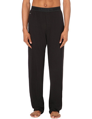 LACOSTE High-rise jersey lounge bottoms