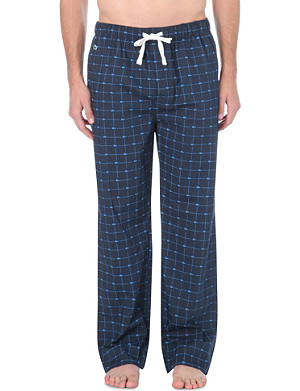 LACOSTE Checked woven pyjama bottoms